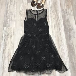 Delia's Sheer Sparkly Tulle Party Dress XS